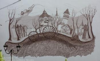Картина на фасаде дома. Зеленоградск. Курортный проспект