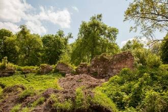Замок Грос Вонсдорф. Остатки крепостной стены