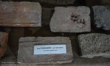 Старинные кирпичи с оттиском лапы собаки. Замок Таплакен. Восточная Пруссия