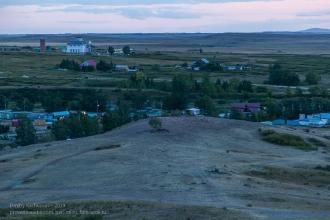 Аркаим. Вечернее фото с горы Шаманки