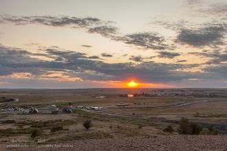 Закат над Аркаимом. Вечернее фото с вершины горы Шаманки