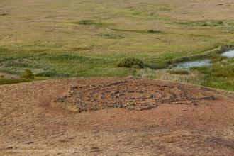 Заповедник Аркаим. Каменный лабиринт с лучами