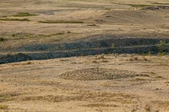 Заповедник Аркаим. Каменный лабиринт на склоне горы Шаманки