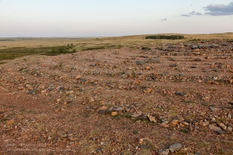 Заповедник Аркаим. Каменный лабиринт на вершине горы Шаманки