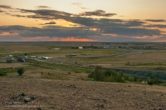 Заповедник Аркаим. Вид на закат с вершины горы Шаманки