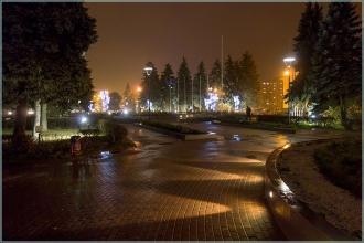 Площадь Киселева. Подсветка. Вечернее фото. Нижний Новгород