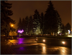 Площадь Киселева. Вечернее фото. Нижний Новгород