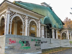 Старый кинотеатр Родина в Автозаводском парке. Перед сносом. Фото