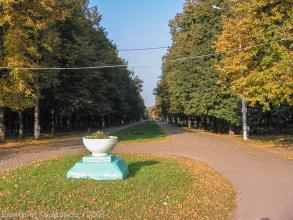 Главная аллея Автозаводского парка Нижнего Новгорода