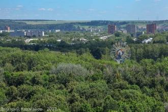 Автозаводский парк. Колесо обозрения. Фото с высоты