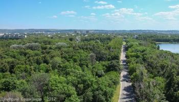 Автозаводский парк и озеро. Фото с высоты