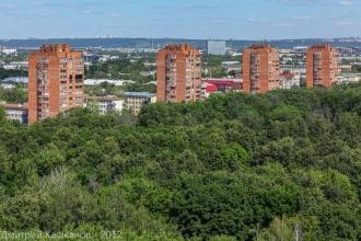 Автозаводский парк и свечки на проспекте Молодежном. Фото с высоты