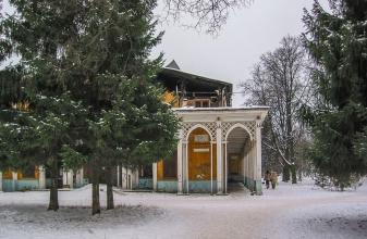 Кинотеатр Родина. Вид от входа в Автозаводский парк. Фото 2007 года