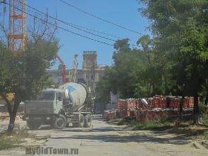 Собор Александра Невского в Волгограде. Фото строительной площадки. Август 2016 года