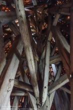 Правдинск. Георгиевская церковь. Деревянная конструкция купола