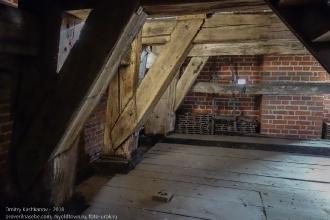 Правдинск. Георгиевская церковь. Деревянная конструкция внутри башни