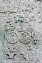 Белокаменная резьба на фасаде Георгиевского собора. Юрьев-Польский
