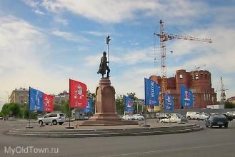 ЧМ-2018 по футболу. Праздничный наряд Волгограда. Площадь Павших Борцов