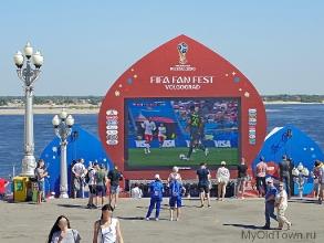 ЧМ-2018 по футболу. Волгоград. Телеэкран на Набережной