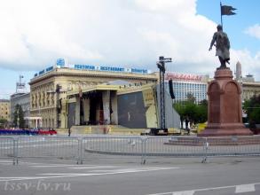 Площадь павших борцов 7 мая 2015 года. Фото Волгограда