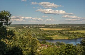 Город Владимир. Вид на Клязьму со смотровой площадки