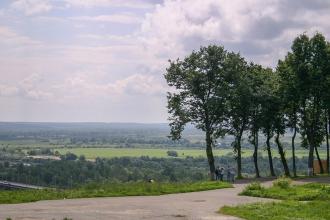 Смотровая площадка в парке Пушкина. Фото Владимира 2004 г.