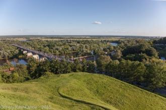 Владимир. Мост через Клязьму. Фото со смотровой площадки