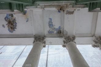 Колонны с лепниной. Кинотеатр Родина. Дзержинск. Фото