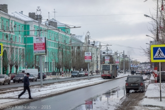 Фото проспекта Ленина в Дзержинске с трамваем. Фото 2015 г.