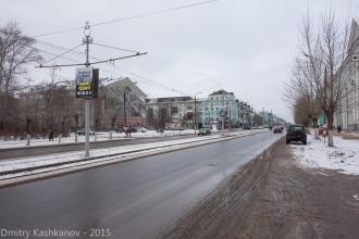 Вид на перекресток пр. Ленина и ул. Грибоедова. Дзержинск