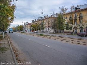 Фото Дзержинска. Проспект Ленина. Старые трамвайные пути