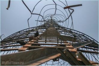 Башня Шухова. Лестница наверх. Фото