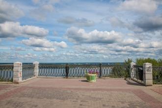 Смотровая площадка. Фотографии Верхне-Волжской набережной. Нижний Новгород