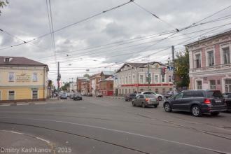 Перекресток улиц Ильинской и Маслякова. Нижний Новгород