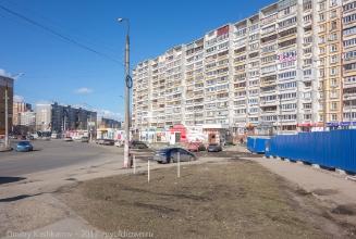 Вид на старое автобусное кольцо на ул. Пролетарской