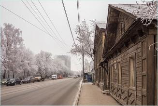 Дом 82 по улице Белинского. Деревянные дома в Нижнем Новгороде. Фото
