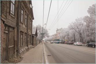 Улица Белинского, д. 78. Старые деевянные дома в Нижнем Новгороде. Фото 2014 года