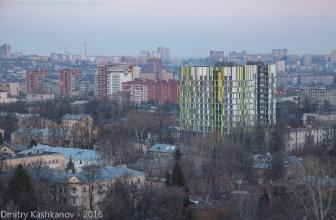 Новый цветной дом. Фото с дома 64 на ул. Белинского