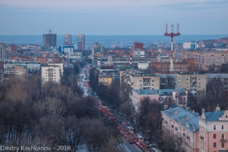 Улица Белинского, парк Кулибина. Вид на пл. Сенную и город Бор