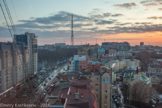 Улица Белинского. Вид на парк Пушкина и телецентр. Фото