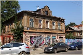 Улица Алексеевская. Нижний Новгород. Фото деревянных домов