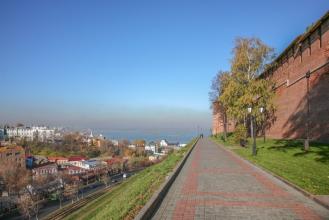 Нижегородский Кремль, Зеленский съезд, Волга. Фото
