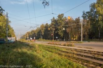 Трамвайная линия. Фото проспекта Молодежного