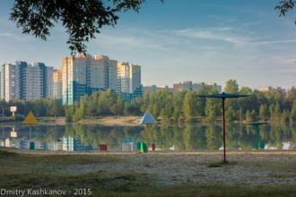 Микрорайон Водный мир. Вид с Молодежного проспекта