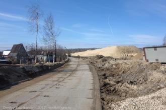 Фото от дороги на переезд у Петряевки. Подъем на виадук