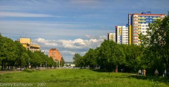 Молодежный проспект. Вид со стороны станции Петряевка