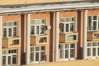 Фрагмент фасада знаменитого Радиусного дома. Нижний Новгород