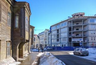 Строится Славянский квартал, деревянные дома сносятся. Нижний Новгород