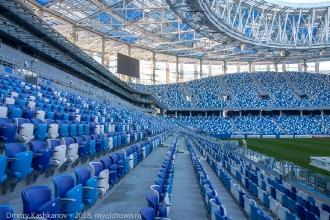 Стадион Нижний Новгород. Расстояние между рядами кресел