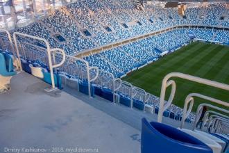 Фото с самого верхнего ряда трибуны B. Стадион Нижний Новгород